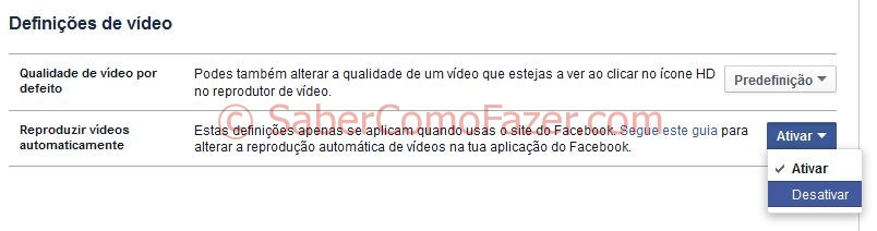Desactivar Autoplay Facebook Videos